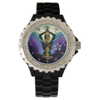 ROD OF ASCLEPIUS 7 CHAKRAS,YOGA LOTUS POSE Purple Watch