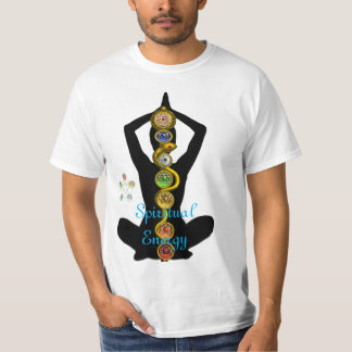 ROD OF ASCLEPIUS 7 CHAKRAS ,YOGA LOTUS POSE T-Shirt
