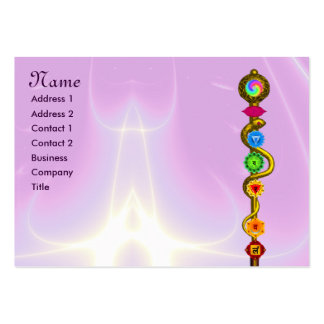ROD OF ASCLEPIUS,7 CHAKRAS,YOGA ,SPIRITUAL ENERGY PACK OF CHUBBY BUSINESS CARDS