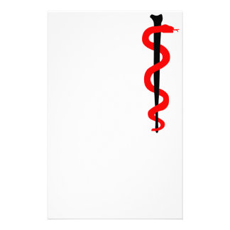 Rod of Asclepius Customised Stationery