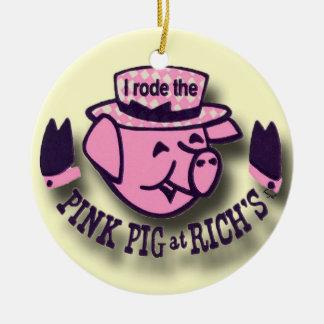 Rode Pink Pig, Rich's, Atlanta Christmas Ornament