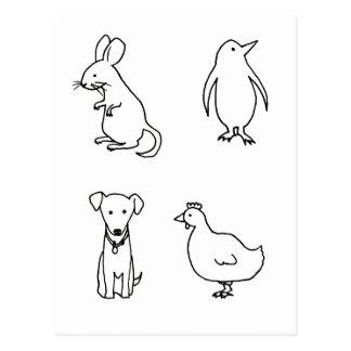 Rodent, Penguin, Dog, Chicken - Everything U need Postcard