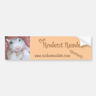 Rodent Reader Bumper Sticker 1