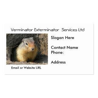 Rodent Vermin Business Card