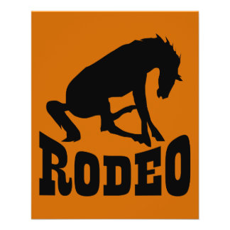RODEO09 RODEO HORSE LOGO ICON GRAPHIC VECTOR STAMP FLYER DESIGN