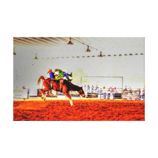 RODEO ART QUEENSLAND AUSTRALIA CANVAS PRINT