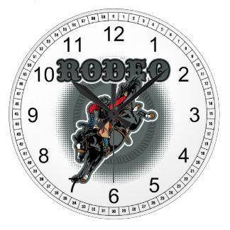 Rodeo Bareback Bronc Rider Clocks