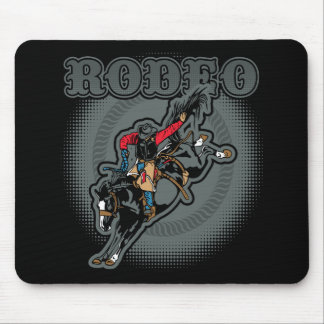 Rodeo Bareback Bronc Rider Mouse Pad