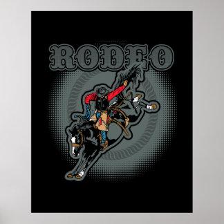 Rodeo Bareback Bronc Rider Poster