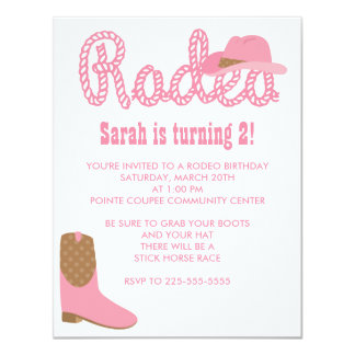 Rodeo Birthday Card