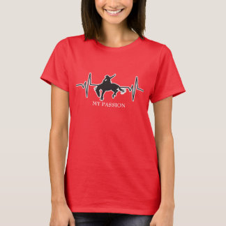 Rodeo / Bronc Rider - My Passion Heartbeat Graphic T-Shirt