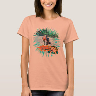 Rodeo Bronc Rider Retro First Rodeo T-Shirt