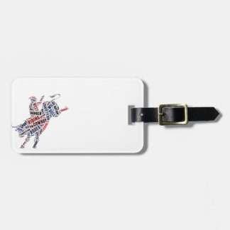 Rodeo competition luggage tag