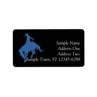 Rodeo Cowboy Address Label
