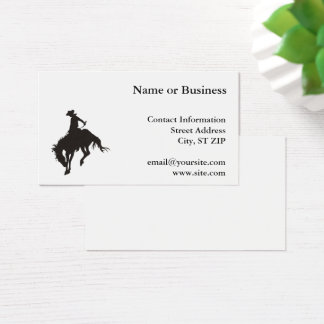 Rodeo Cowboy Business Card