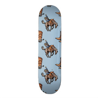 Rodeo Cowboy Western Boots Horse Country Skate Deck