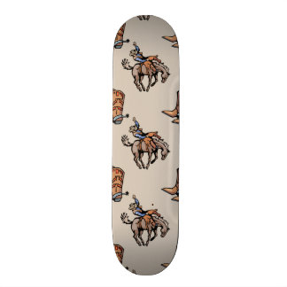 Rodeo Cowboy, Western Boots, Horse, Country Skate Boards