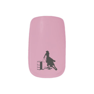 Rodeo Cowgirl Barrel Racer Horse Style Nail Art