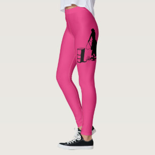 852049e565754 Rodeo Cowgirl Barrel Racing Horse Silhouette Leggings