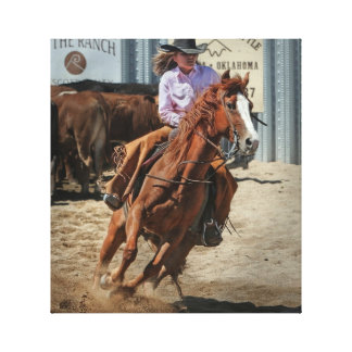 rodeo cowgirl canvas canvas print