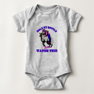 """Rodeo Cowgirl Mutton Bustin"""" Bottle Watch This Baby Bodysuit"""