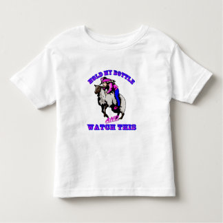 """Rodeo Cowgirl Mutton Bustin"""" Bottle Watch This Toddler T-Shirt"""