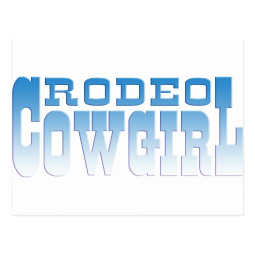 RODEO COWGIRL POSTCARDS