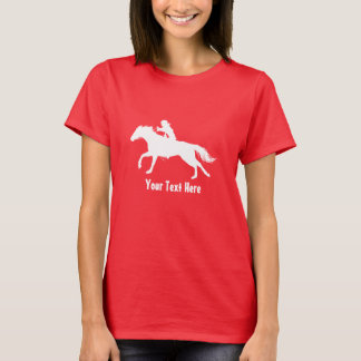 Rodeo Cowgirl (wearing helmet) on Horseback T-Shirt