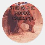 Rodeo Cruelty Round Stickers