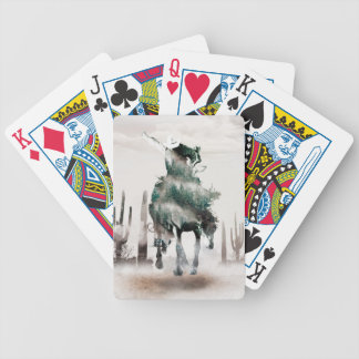 Rodeo - double exposure  - cowboy - rodeo cowboy bicycle playing cards