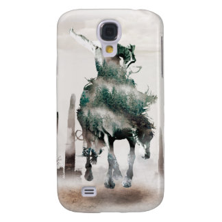 Rodeo - double exposure  - cowboy - rodeo cowboy galaxy s4 case