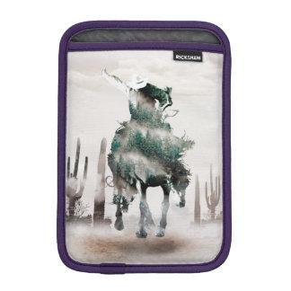 Rodeo - double exposure  - cowboy - rodeo cowboy iPad mini sleeve