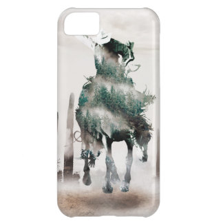 Rodeo - double exposure  - cowboy - rodeo cowboy iPhone 5C case