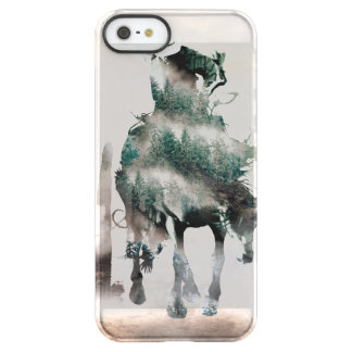 Rodeo - double exposure  - cowboy - rodeo cowboy permafrost® iPhone SE/5/5s case