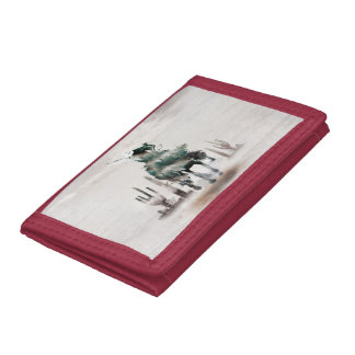 Rodeo - double exposure  - cowboy - rodeo cowboy tri-fold wallet