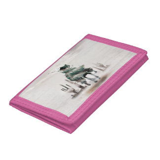 Rodeo - double exposure  - cowboy - rodeo cowboy tri-fold wallets