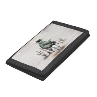 Rodeo - double exposure  - cowboy - rodeo cowboy trifold wallet