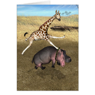 Rodeo Hippo Card