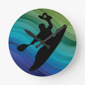Rodeo Kayak Round Clock