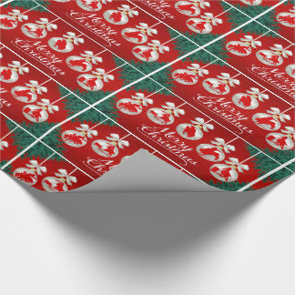 Rodeo Ornaments Merry Christmas Gift Wrap Paper