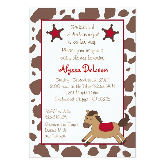 Rodeo Round Up Cowgirl Baby Shower Invitations Zazzle Com Au