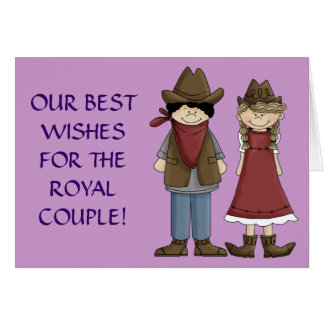Rodeo Royalty Bride and Groom Card