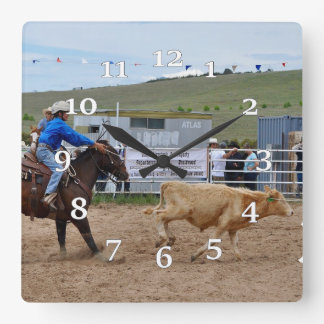 Rodeo Square Wall Clock