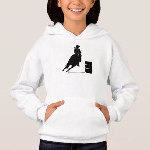 Rodeo Theme Cowgirl Barrel Racing Silhouette