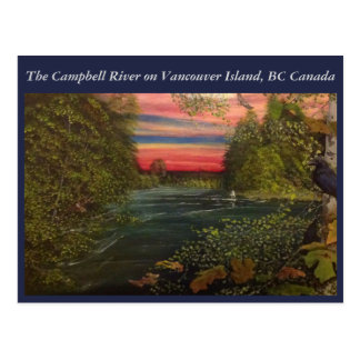 Roderick Haig-Brown heads out onto Campbell River Postcard