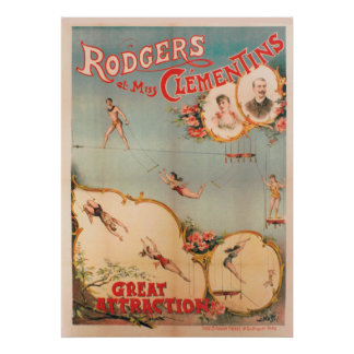 Rodgers et Miss Clementins, Great Attraction Poster