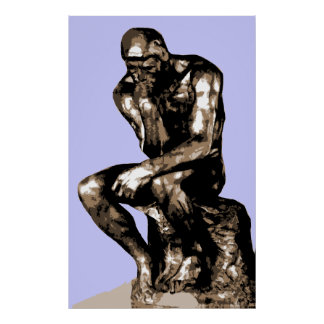"Rodin ""The Thinker"" - Canvas Poster"