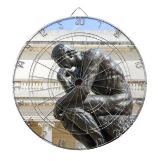Rodin Thinker Statue Dartboard