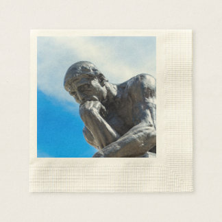 Rodin Thinker Statue Disposable Serviette