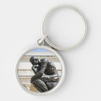 Rodin Thinker Statue Key Ring